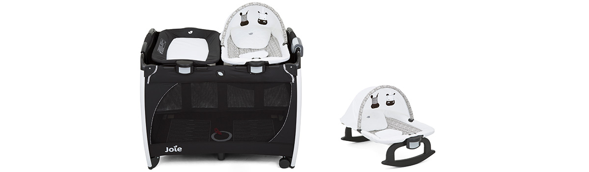 Suitable from birth to 15kg. Change /& Rock Travel Cot